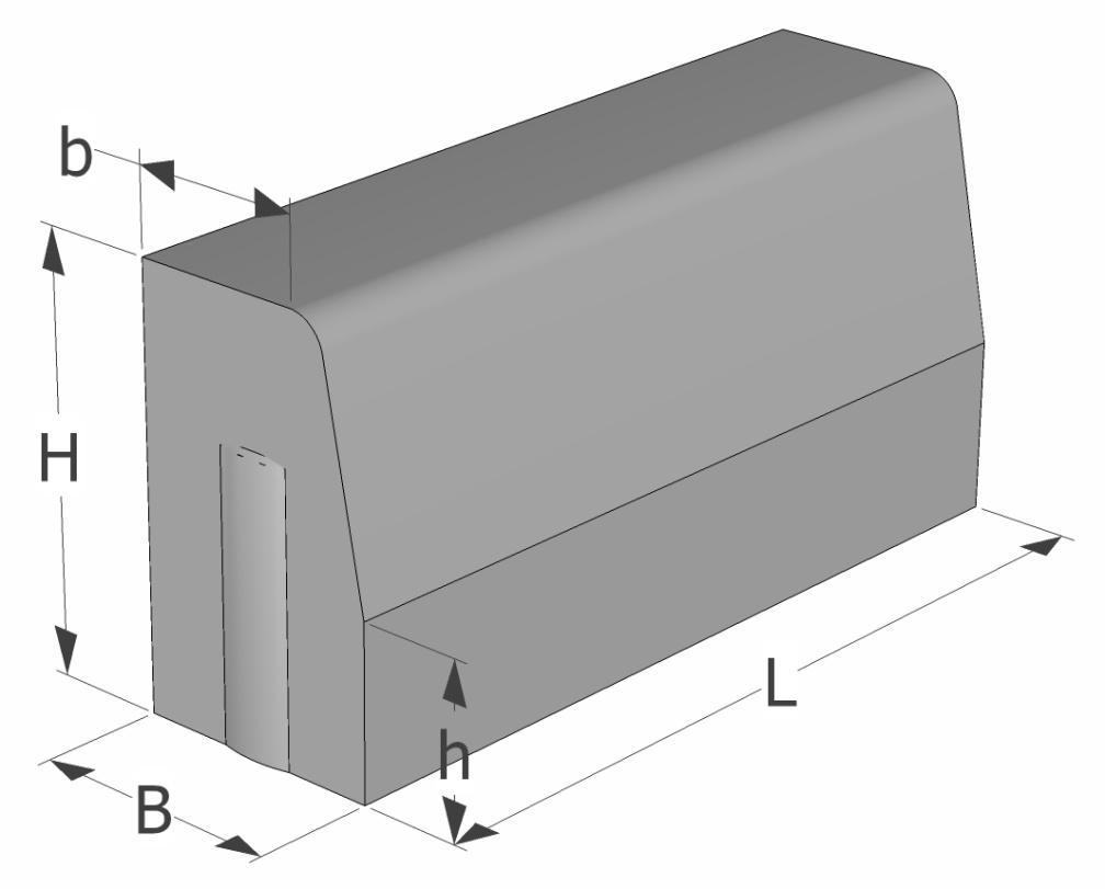 Silniční obrubník rozměry